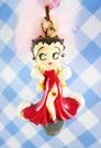 【震撼精品百貨】Betty Boop_貝蒂~手機吊飾-禮服(毛球圓珠)