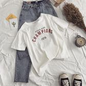 T恤-白色t恤女夏ins超火短袖新款寬鬆韓版百搭學生半袖體恤上衣潮 依夏嚴選
