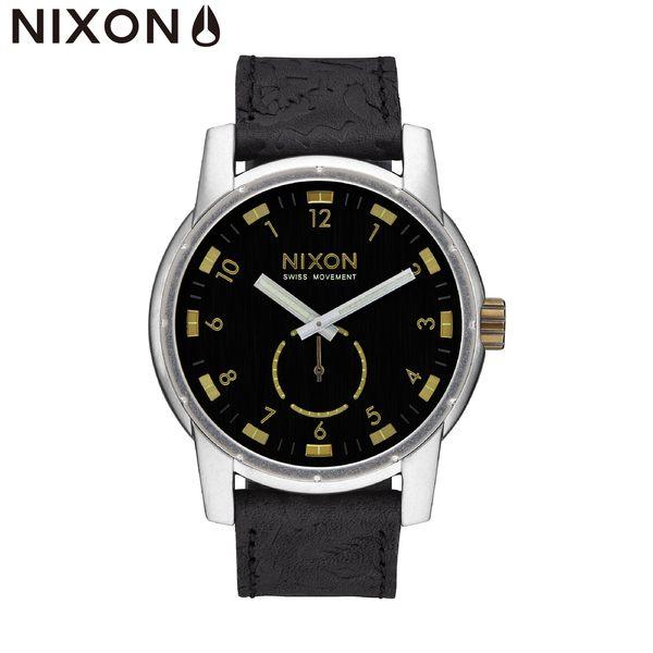 NIXON手錶 原廠總代理A938-2222 Patriot Leather 黑色潮流時尚皮錶帶 男女 運動 生日情人節禮物