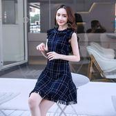 洋裝秋裝女款性感連身裙收腰顯瘦裙子設計感小清新裙871GT2F-261-B快時尚