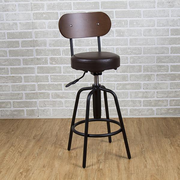 吧台椅/日式吧台椅/吧台桌椅/升降椅/曲木 (咖啡色) MIT台灣製【61201-DBR】Tasteful 特斯屋
