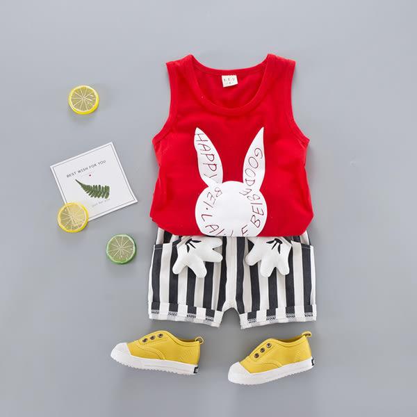 嬰兒短袖套裝 卡通背心+短褲 寶寶童裝 YN1617 好娃娃