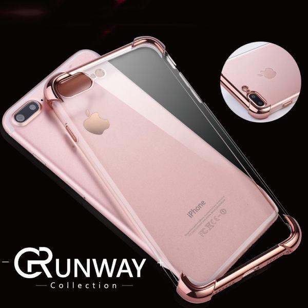 Iphone XS max XR 圓弧電鍍超薄透明手機殼