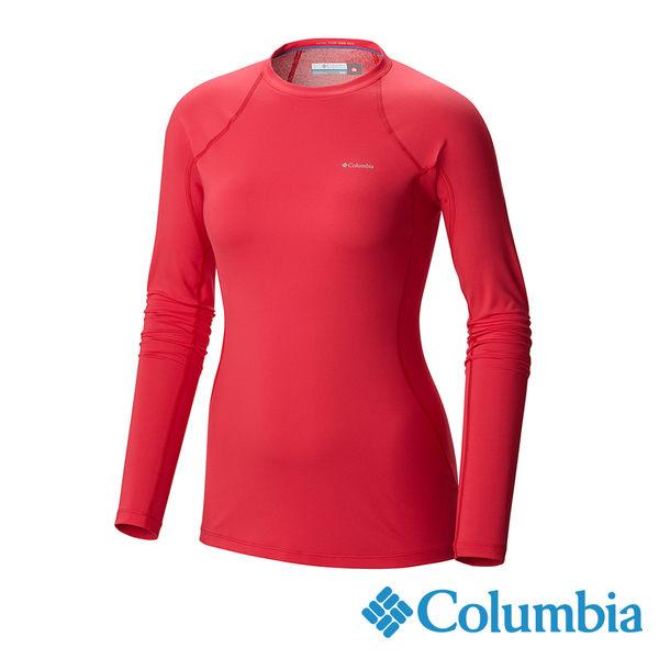 Columbia 女 保暖快排長袖上衣-桃紅色 UAL67630FC【GO WILD】
