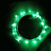 USB 5V 防水型10燈銀絲燈 1M綠光