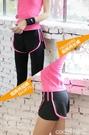 熱賣假兩件運動褲假兩件運動長褲女跑步速干防走光九分緊身瑜伽褲高腰彈力健身褲子  coco
