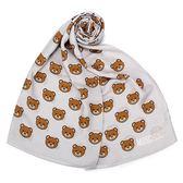 MOSCHINO 經典滿版TOY小熊莫代爾材質薄圍巾(淺灰色)911007-006