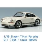 Make Up 1/64 模型車 Singer Titan Porsche 911 ( 964 ) Coupe TM001C 象牙白