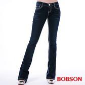 BOBSON 女款五彩鑽貼腿小喇叭褲(9091-52)