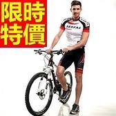 自行車衣套裝-明星款率性獨特造型男短袖單車衣55u59[時尚巴黎]