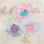 圍兜 / 口水巾 Baby Aspen BAS 女寶寶海底動物圍兜三件組 (彌月禮)  BA16033AS