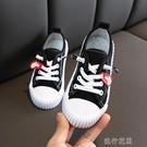 快速出貨 新款正韓兒童糖果色帆布鞋男女童休閒餅干鞋實心底小白鞋