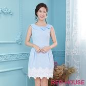 Red House 蕾赫斯-復古圓領蝴蝶結無袖洋裝(共2色) 滿2000元現抵250元