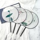 團扇子半透明絲水墨復古故宮廷扇圓扇古裝漢服舞蹈扇中國風工藝扇 9號潮人館