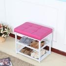 限定款鞋架子 簡易多層防塵多功能鞋櫃換鞋凳經濟型家用家裏人宿舍省空間jj