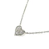 Tiffany & Co 蒂芬妮 愛心鑲鑽造型950鉑金項鍊 Heart Necklace 【BRAND OFF】