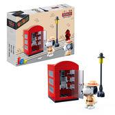 Snoopy 史努比積木系列-紅色電話亭