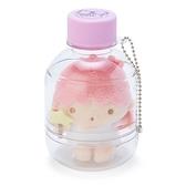 〔小禮堂〕雙子星LALA 瓶裝絨毛玩偶娃娃吊飾《粉紫》掛飾.置物罐 4901610-70757