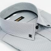 【金‧安德森】灰色釘釦領吸排窄版長袖襯衫