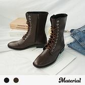 中長靴 率性綁帶中長靴 MA女鞋 T6197