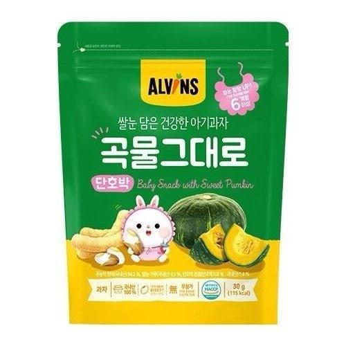 【韓國ALVINS愛彬思】糙米寶寶餅乾30g(洋蔥風味)