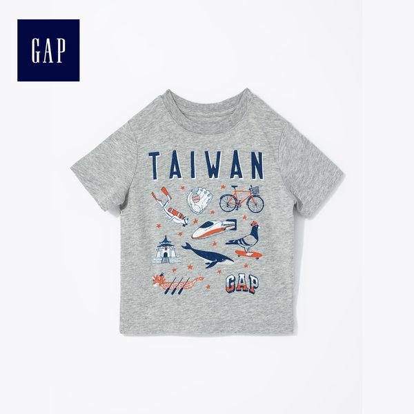 Gap男嬰幼童 童趣精選城市主題印花短袖T恤 442497-台灣