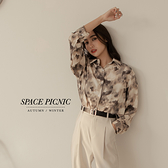 長袖 襯衫 Space Picnic|渲染微透長袖襯衫-2色(現貨)【C21082086】