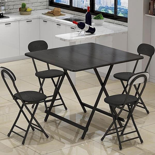 餐桌  折疊桌餐桌家用小飯桌便攜式戶外折疊擺攤桌正方形宿舍簡易小桌子