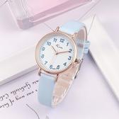 兒童手錶 簡約手錶女韓版時尚潮流兒童手錶女孩男生防水電子石英錶【快速出貨八折鉅惠】