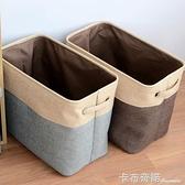 新款日式家居收納日本摺疊布藝仿麻臟衣籃收納筐洗衣籃大號收納桶 卡布奇諾