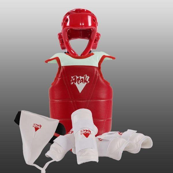 跆拳道護具成人兒童加厚全套五件套比賽型跆拳道護具【非凡】