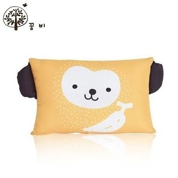 【韓國GGUMBI/Dream B】透氣防蹣護頭型嬰兒枕-猴子 #BP-Monkey