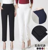 春裝薄款中年婦女寬鬆大碼彈力休閒長褲PLL2672【男人與流行】