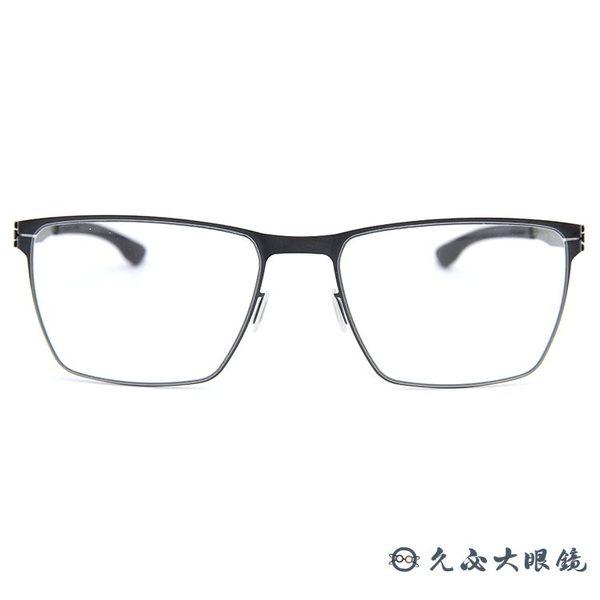 ic! berlin 薄鋼眼鏡 Thomas A (槍銀) 方框 近視眼鏡 久必大眼鏡 原廠公司貨