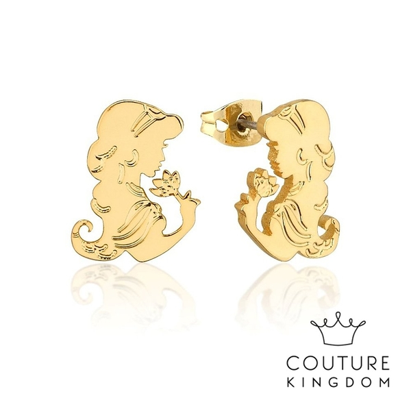 Couture Kingdom 迪士尼阿拉丁茉莉公主鍍金耳釘 Aladdin Princess Jasmine Earrings