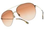 BURBERRY太陽眼鏡 B3113 110913 (金-漸層棕鏡片) 飛官金屬雙槓半框款 # 金橘眼鏡