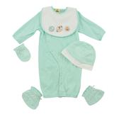 【愛的世界】純棉小狗長袖兩用嬰衣5件組禮盒/3~6個月-台灣製- ★禮盒推薦