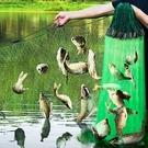 進口綠絲網魚網粘網攔河撲魚三層沉網浮網掛沾抓鯽魚捕魚神器漁網 快速出貨