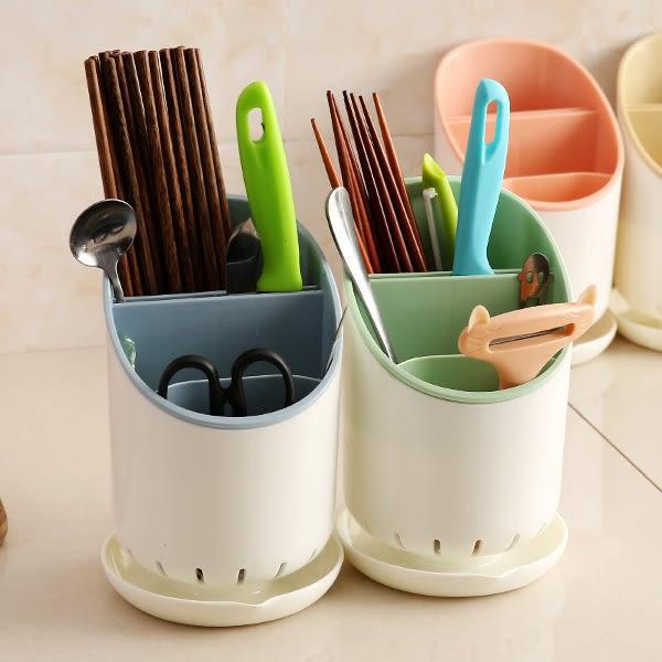 Qmishop 創意廚房餐具筷子收納瀝水桶 置物架【J2441】