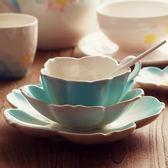 歐式咖啡杯碟套裝陶瓷杯子咖啡套具英式下午茶杯花茶具優雅三件套  雙12八七折