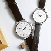 CK / K7B211C6.K7B231C6 /  EVEN 沉靜雅緻岩紋皮革手錶 銀白x黑 42mm+36mm