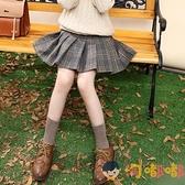 女童半身裙百褶裙毛呢格子兒童大童短裙子秋冬【淘嘟嘟】