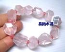 『晶鑽水晶』星光粉晶(芙蓉晶)搭配紅紋石(菱錳礦)手鍊-大 超級正能量的愛情*免運費