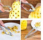 鳳梨削皮器不銹鋼去眼夾鳳梨刀挖籽去皮器水果甘蔗削皮刀工具神器【閒居閣】