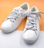 鞋帶  字母絲帶雙層綢緞黑白藍粉色斯凱女生嫣美可調節  AB1083 【3C環球數位館】
