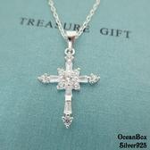 ☆§海洋盒子§☆華麗巴洛克風鑲鑽鋯石十字架。925純銀單墜子《單墜價340元》