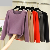 R2052# 無痕發熱T恤女加厚加絨德打底衫修身內穿秋衣圓領保暖女裝 &小咪的店&