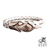 原生飾代SilverKings-心之所嚮-316L白鋼皮手環-金