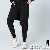 【OBIYUAN】飛鼠褲 台灣製 寬鬆 棉褲 長褲 縮口褲 休閒褲 共3色【SP1616】