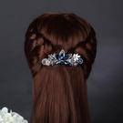 頭飾髮夾成人百搭優雅髮飾彈簧夾頂夾飾品水晶馬尾夾子髮卡女